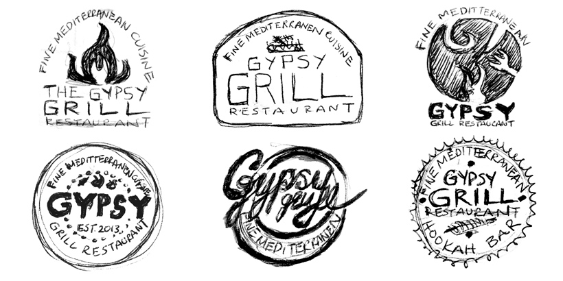 gypsy_grill_logo_sketches
